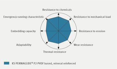 Characteristic profile KS PERMAGLIDE® P2 PVDF based, mineral reinforced