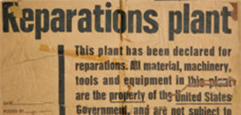 Original poster with reparations decision from 1945