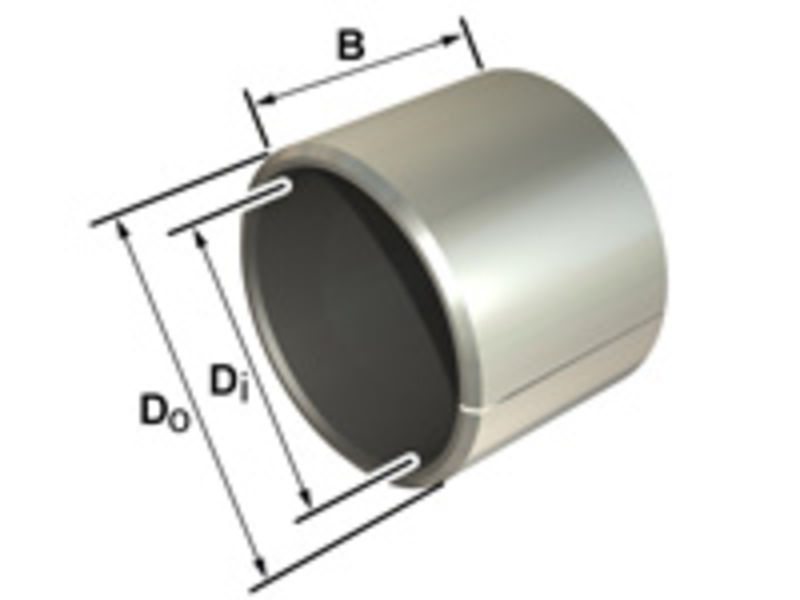 PAP0812P10 Permaglide P10 Cylindrical Bush Bearing 8x10x12mm