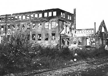 zerbombtes Kolbenschmidt Werk von 1945