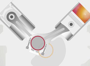 360-Grad-Sputterlager für Gasmotoren