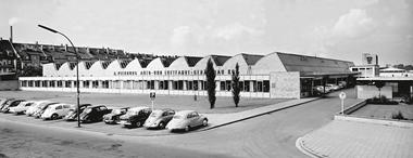 Company plant of Alfred Pierburg Auto- und Lufthart-Gerätebau KG in Neuss from 1955