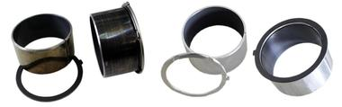 Welded flange liners