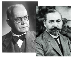Company founders Bernhard Pierburg and Karl Schmidt