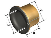 Flange liners PAF.. KS Permaglide P11 plain bearing