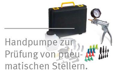 [Translate to Deutsch:] Pierburg Druck-/Unterdruck-Handpumpe zur Prüfung von pneumatischen Stellern