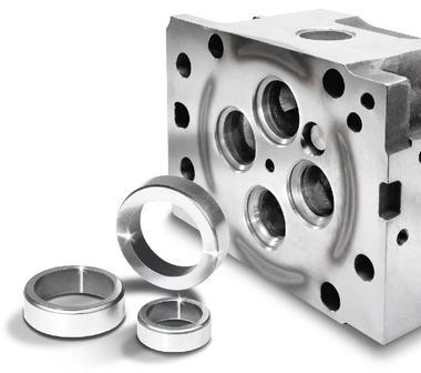 Ventilsitzringe für Gasmotoren