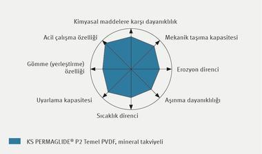 Özellik profili – KS PERMAGLIDE® P2 Temel PVDF, mineral takviyeli