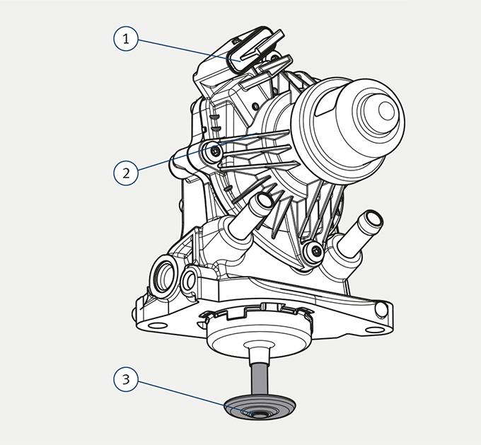 BMW 1.5/1.6/2.0 l diesel EGR valve
