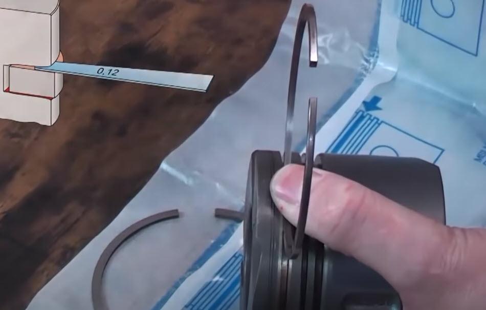 Montaggio delle fasce elastiche