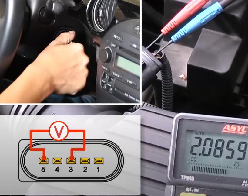 Kontrola analogowych czujników przepływu masowego powietrza