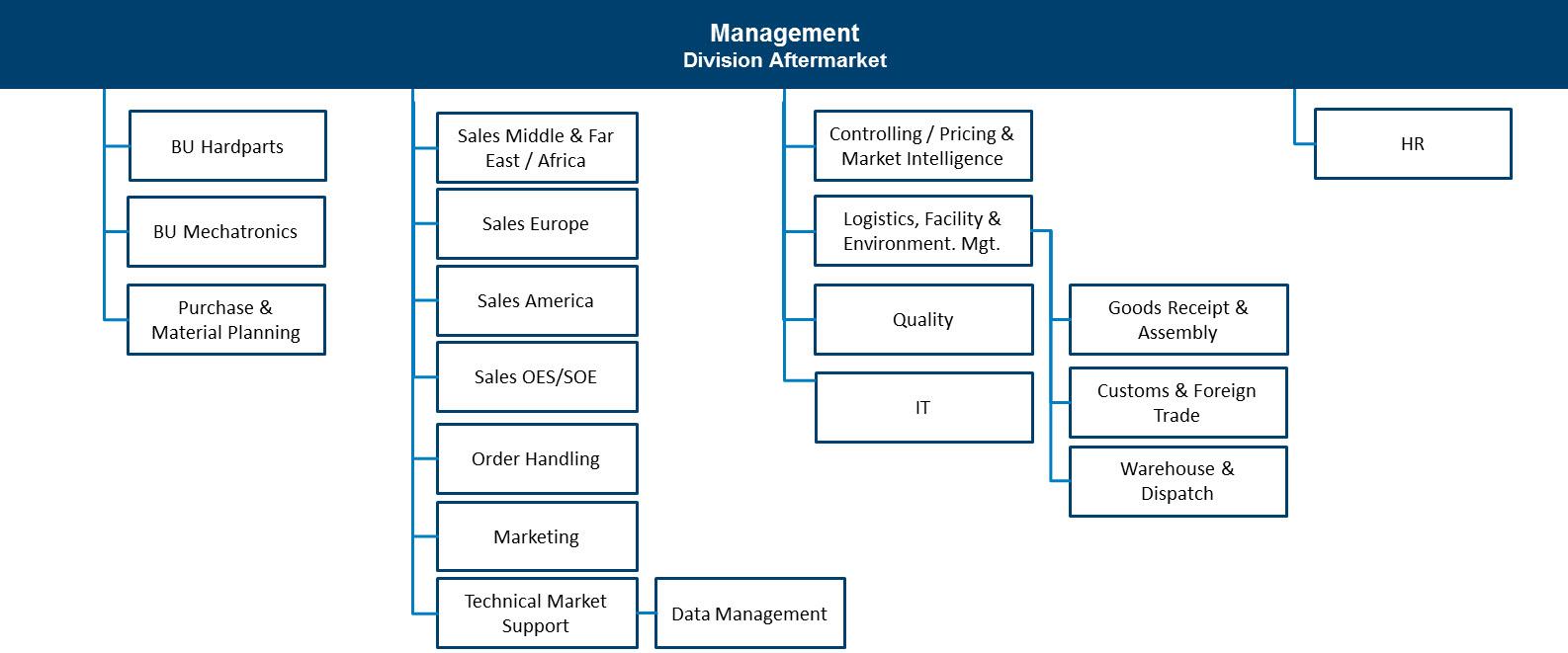 motorservice organisation chart
